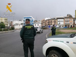 Efectivos de la Guardia Civil en Puente Genil (FOTO: Guardia Civil)