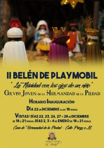 cartel belen playmobil