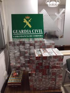 Tabaco ilegal requisado en la autovía A-45 (FOTO: Guardia Civil)