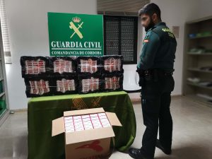 Cajetillas requisadas por la Guardia Civil en Encinas Reales (FOTO: Guardia Civil)